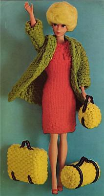 BARBIE / SINDY   TRAVEL SET 4ply and 8ply or DK - COPY doll knitting pattern