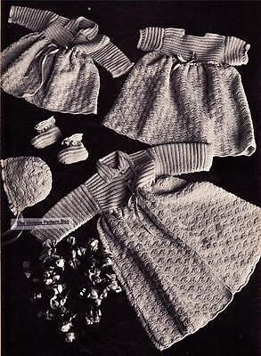CROCHET LAYETTE 5 peices / 3 to 6 months / 3ply - COPY crochet pattern