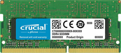 Crucial 8GB (1x8GB) DDR4 SODIMM 2666MHz CL19 Single Stick Notebook Laptop Memory