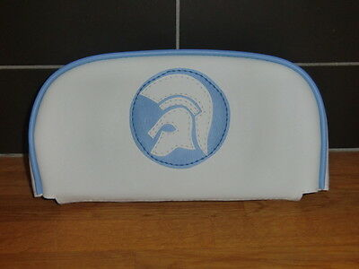 White/ Light blue Trojan Scooter Back Rest Cover (Purse Style)