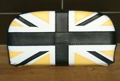 DARK Blue/Yellow/White Union Flag Scooter Back Rest Cover (Purse Style)