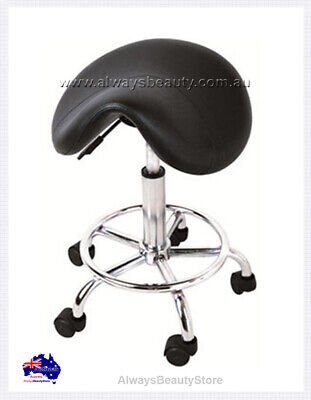 Salon Saddle Stool Gas Lift  Wide Seat Protect Back for Beauty Salon Stools