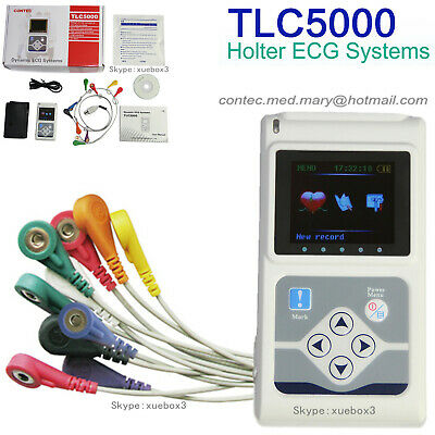 CONTEC TLC5000 12-Lead Holter ECG 24 ore di monitoraggio del software per PC CE