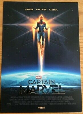2 x Odeon captain marvel Studios A4 Posters