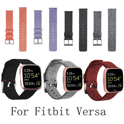 UK For Fitbit Versa Strap Replacement Woven Fabric Milanese Watch Band