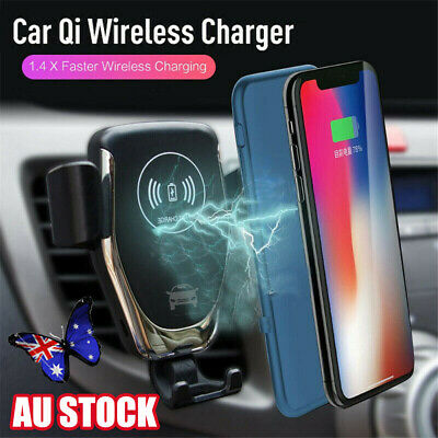 Qi Wireless Fast Charger Handsfree Car Holder Gravity Mount w Parking System 77