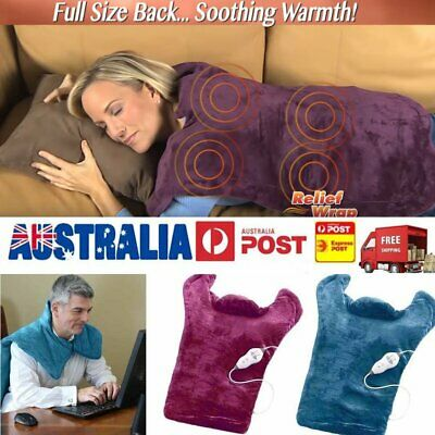 AU Extra-Long Heat & Massage Relief Wrap Neck Shoulder Muscles Pain Therapy Pad