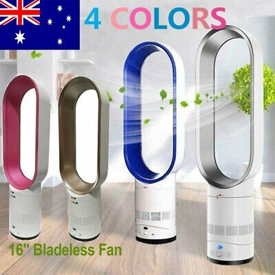 "16"" Bladeless Fan Remote Control AirFlow Cooling Cool Fan Low Portable AU"