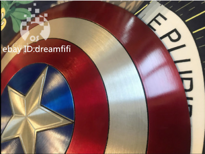 New Captain America Shield 1:1 Full Aluminum Metal Shield Cosplay Props By DHL