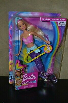 Brand New Barbie Doll 2018 Dreamtopia Sparkle Lights Mermaid Works In Water