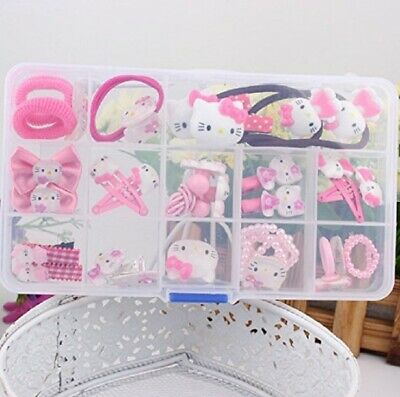 1cc40ee48 NiceGo Pink Hair Bows Clips for Girls – Hello Kitty Ribbon 15 Pieces in one  box