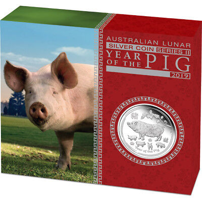 2019 Year Of The Pig 1/2oz Silver Proof Coin