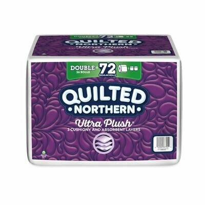 Quilted Northern Ultra Plush 3-Ply Toilet Paper, Pack Of 36 Double Rolls
