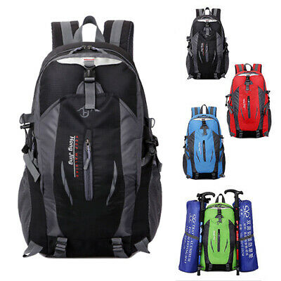 40L Large Hiking Camping Bag Travel Backpack Outdoor Rucksack Waterproof Useful