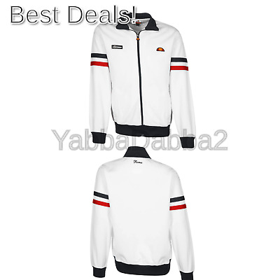 ellesse Track TOP Roma Mens Navy Tracksuit TOP White L