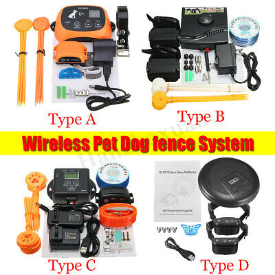 Wireless Pet Dog Cat Fence Containment System Waterproof Rechargeable Lot