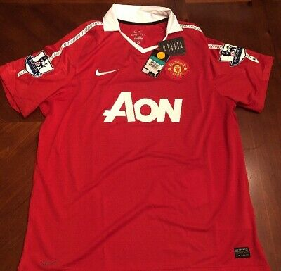 de7ffc583 MANCHESTER UNITED WAYNE Rooney Red Authentic Game Jersey BNWT SZ XL ...
