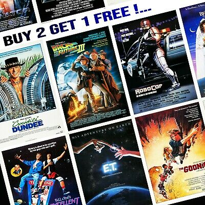 1980's Movie Posters - A5/A4/A3 - Professionally Printed Wall Art - Lot #1