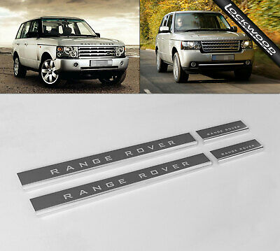 Range Rover Vogue 2002 - 2013 Stainless Steel Sill Protectors / Kick Plates