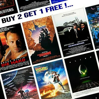 1980's Movie Film Posters - A5/A4/A3 - Professionally Printed Wall Art - Lot #2