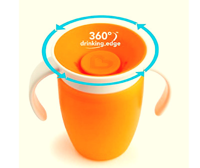 Drinking Sippy Trainer Cup Baby Toddler 360°Degree Edge Munchkin Miracle 207ml