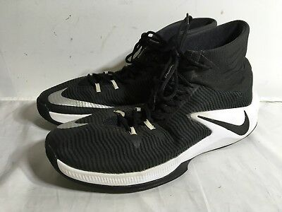 677d0910e892 NIKE ZOOM CLEAR OUT TB Black White Lace Up Basketball Shoes Sz 14 844372 -  002
