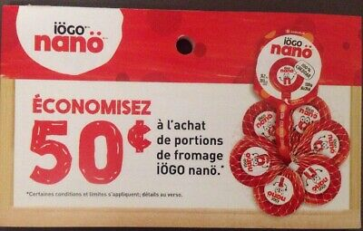 Lot of 10 x 0.50$ IOGO Nano Products Coupons Canada