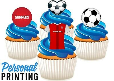 Arsenal Gunners Fc Football Mix Edible Stand Up Wafer Cake Toppers Fan Champions