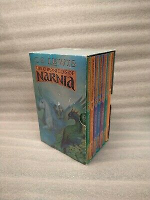 The Chronicles of Narnia P/B 1-7 Box Set C S Lewis Lion Witch Wardrobe Complete