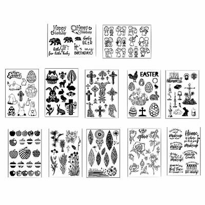 Silicone Clear Stamp Transparent Rubber Stamps DIY Scrapbook Christmas treeFBDU