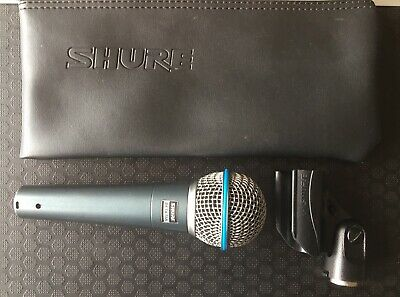 Shure Beta 58 Microphone (Hyper cardioid Dynamic Mic + Official Case & Clip)