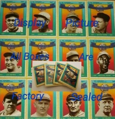 1992 Baseball Hall of Fame Heroes 1st Edition Stamp Card Set (4 Packs)
