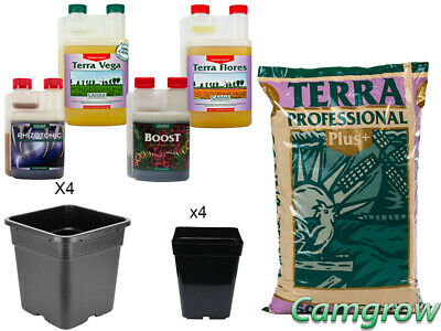 CANNA Starter Pack Proffensional Plus Soil & Pots, Canna Nutrients & Additives