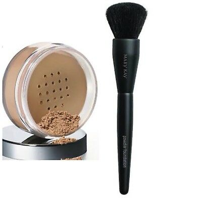 Mary Kay Mineral Powder Foundation + Powder Foundation Brush ~ Choose Your Shade