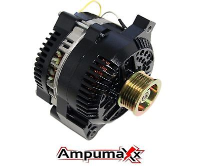 Black One Wire 250 Amp Alternator For Ford Mustang 5.0L 1994 1995 HIGH AMP