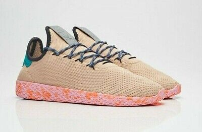 730003a768aec Adidas Pharrell Williams PW Tennis HU Mens Tan Teal Pink Shoes Size 9.0  BY2672