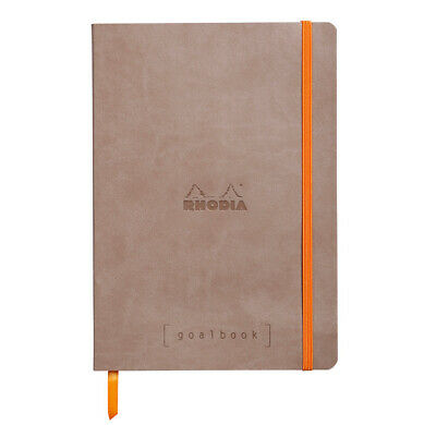 """Carnet d'organisation """"Goalbook"""" - A5 - 240 pages - Dot - Taupe"""