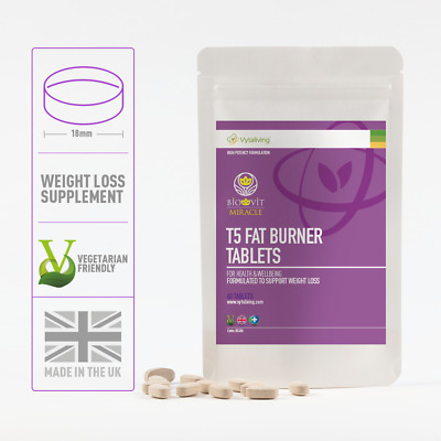 T5 Fat Burner by Biovit. Miracle Weight loss vegan tablets. Fast strong pills