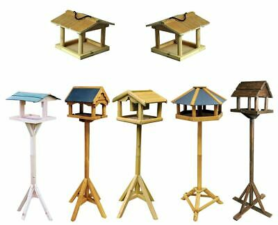 Traditional Wooden Wild Bird Deluxe Feeding Station Table Free Standing New