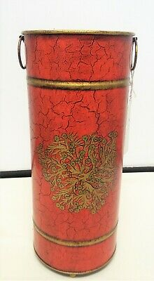 Harvest Moon Red / Gold Umbrella Stand Height 470 mm