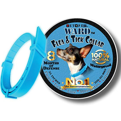Vet Pet Flea Collar for Dogs All Natural Flea Tick Prevention 8 Months One Size