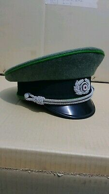 WW2 German  army heer officer cap and soldier  cap with red piping ship 2 weeks