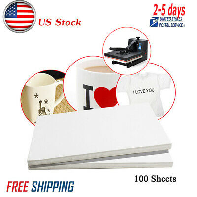 100 Sheets A4 Dye Sublimation Heat Transfer Paper for Mug Cup Cotton T-Shirt USA