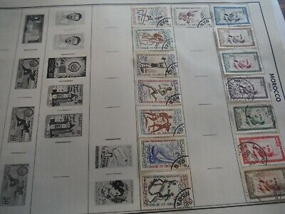 WPPhil Morocco Mostly Used Stamps Accumulation Approx. 40+