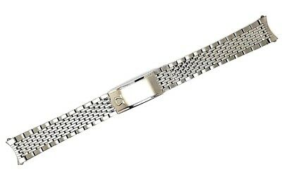 New 18Mm Bead Of Rice Solid Stainless Steel Gents Watch Strap For Omega