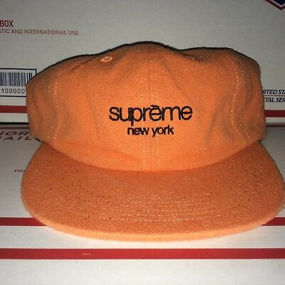 33623f95a09 Supreme Napped CANVAS 6 panel Hat Classic BOX Logo Cap Strap Back  Skateboard NYC