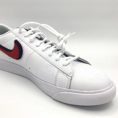 b946d52921ff1 NIKE BLAZER LOW 3D White Red Blue Men Casual Lifestyle Shoes ...