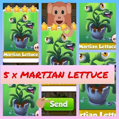 Coin master Pack of 5 Martian Lettuce card .All cards available