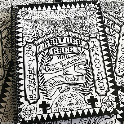 Brother Greg Outlines Vol. III - Traditional Tattoo Flash Sketch Book