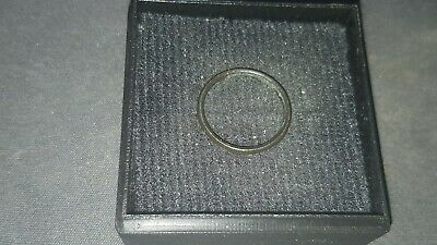 Very rare stunning Viking childs tiny silver ring. Please read description. L72